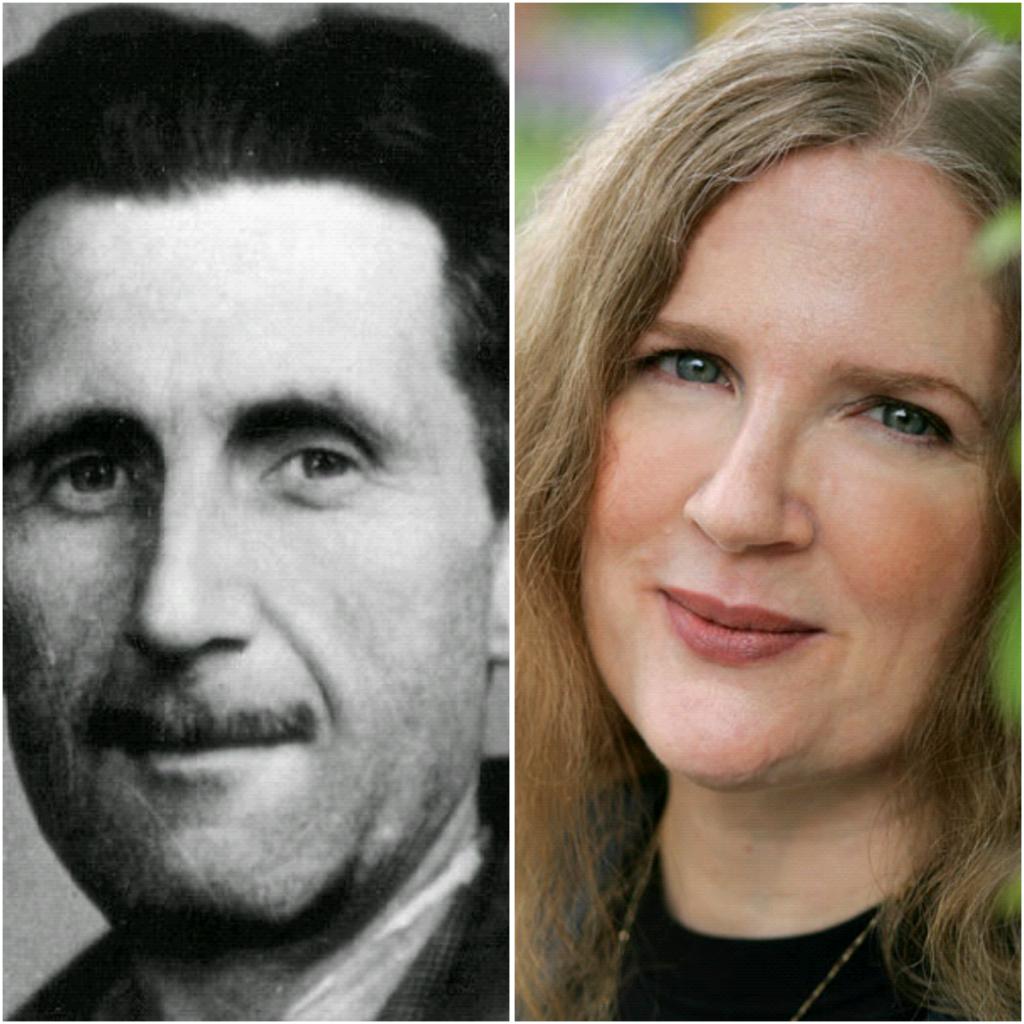 《1984》作者George Orwell 與《The Hunger Games》作者 Suzanne Collins
