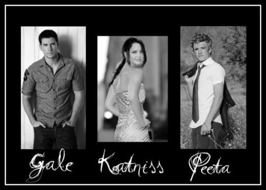 主角Katniss,拍檔Peeta與情人Gale