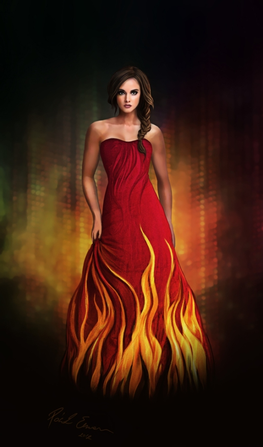 Katniss Everdeen The Girl On Fire by Emesemese on DeviantArt